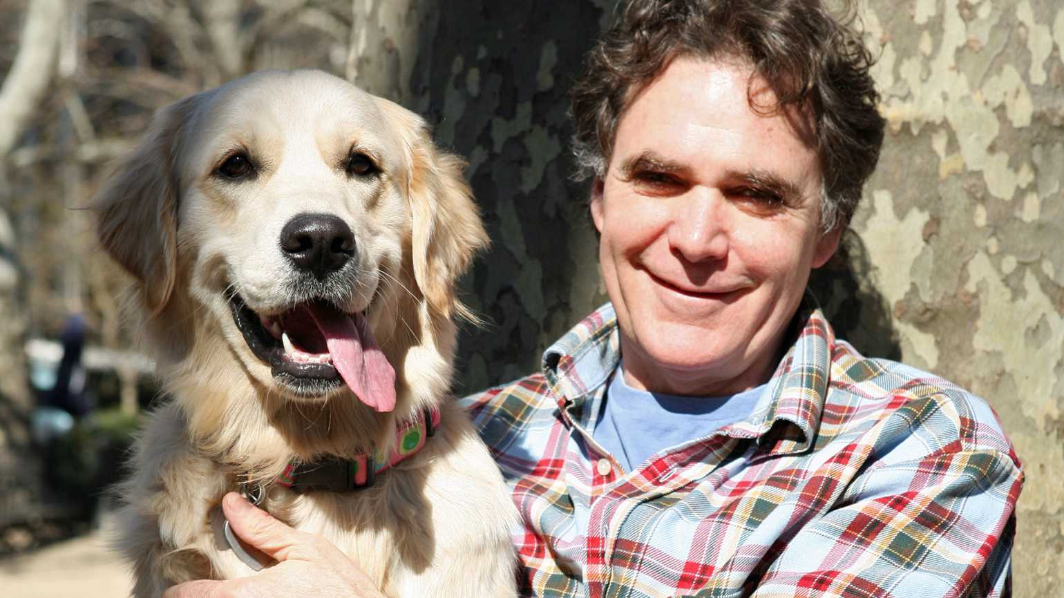 Edward Grinnan with his beloved canine companion, Millie