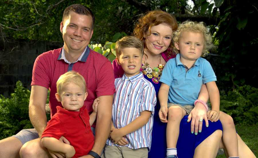 Ashley and her husband, Erick, with sons Andrew, Skyler and Ethan