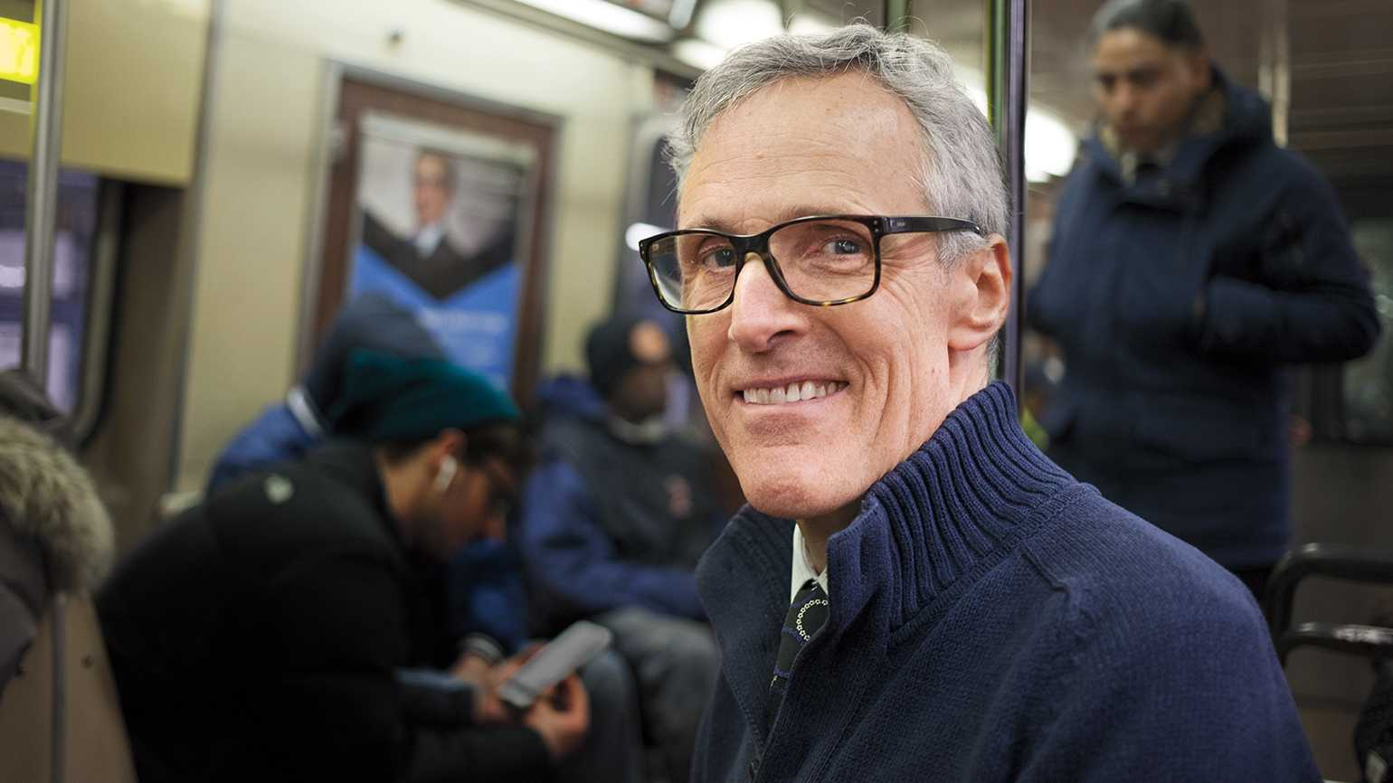 Rick Hamlin on the downtown A train