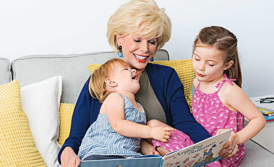 60 Minutes correspondent Lesley Stahl with her two granddaughters
