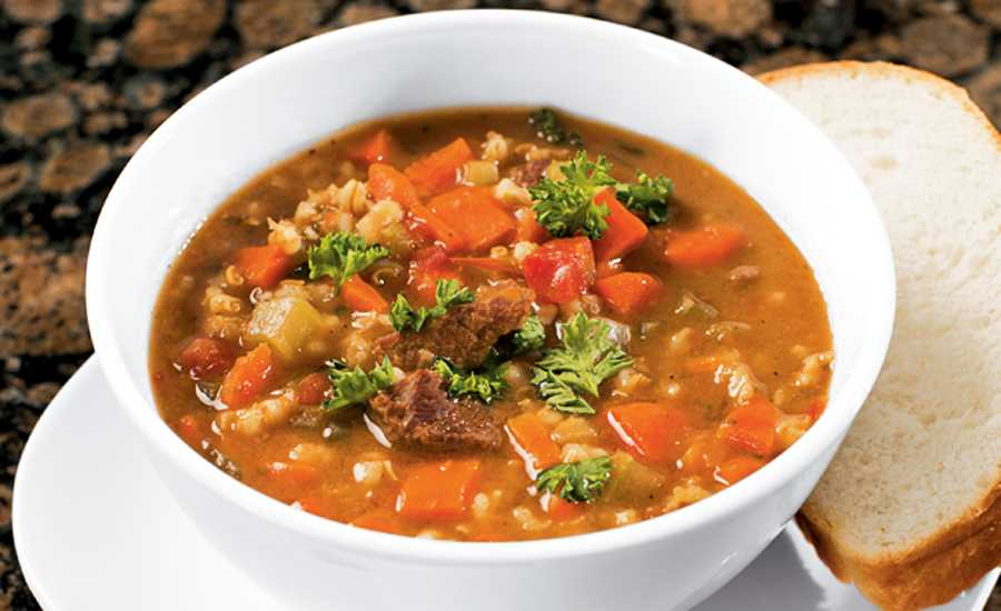 Guideposts: Veggie Beef and Barley Soup