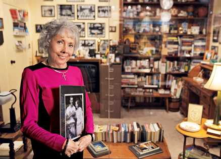 Nan Wooden, in her father's office at UCLA