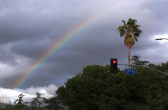 Rainbow over Los Angeles.