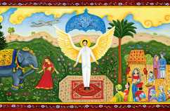 An artist's rendering of a Hindi angel