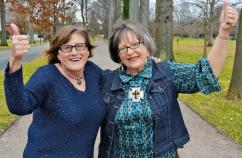 Ellen (left) helped set Roberta on a healthier path.