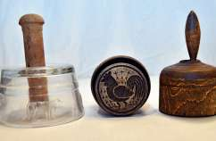 Three of Lois's butter molds