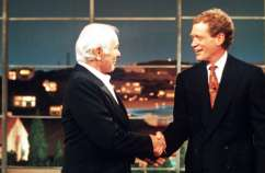 Johnny Carson and David Letterman on the Late Show