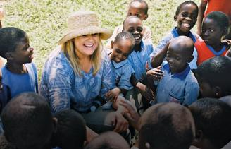 Shelene on her first trip to Uganda, in 2003