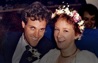 Rick and Carol on their wedding day