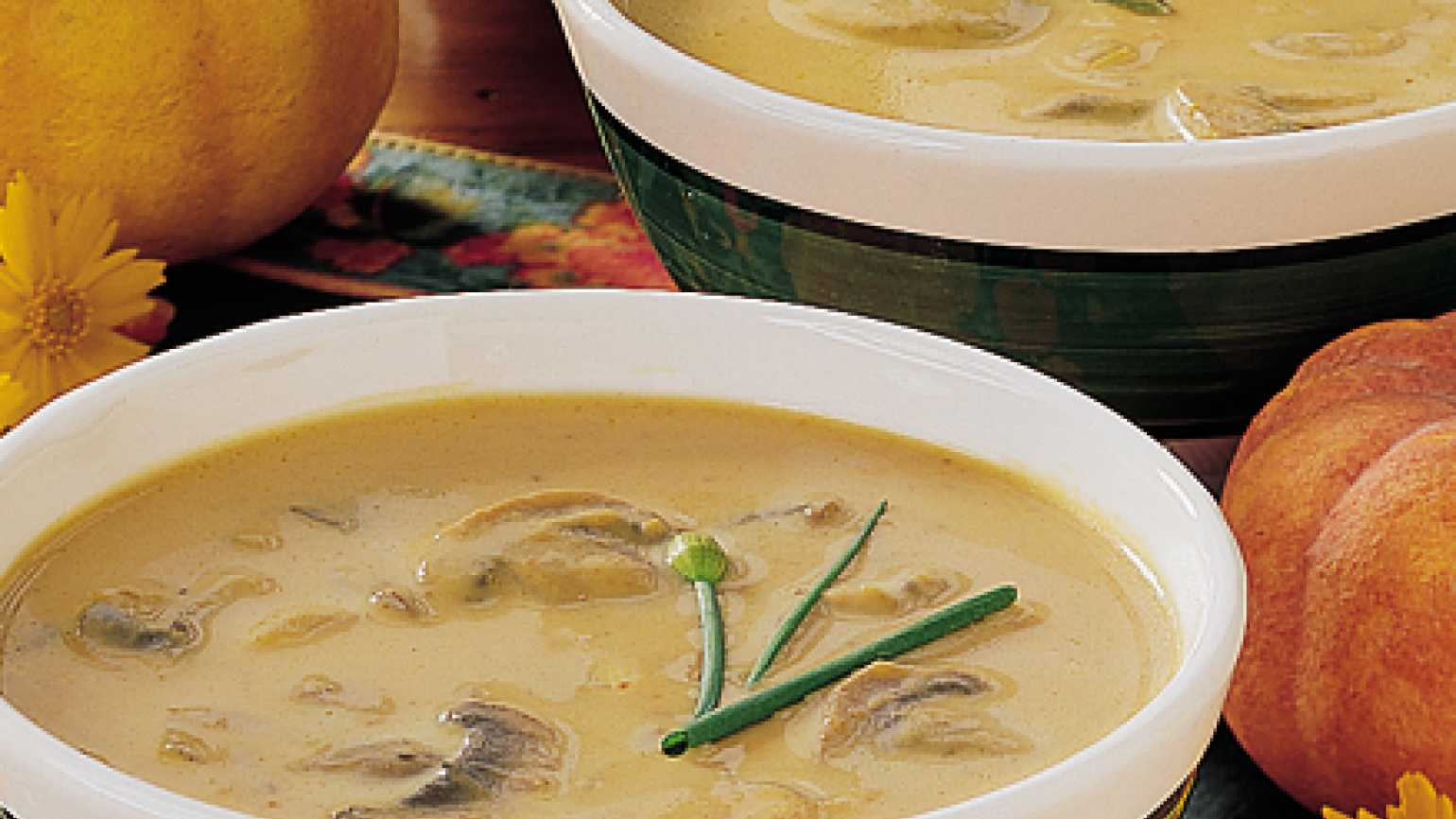Soup recipes: curried pumpkin soup