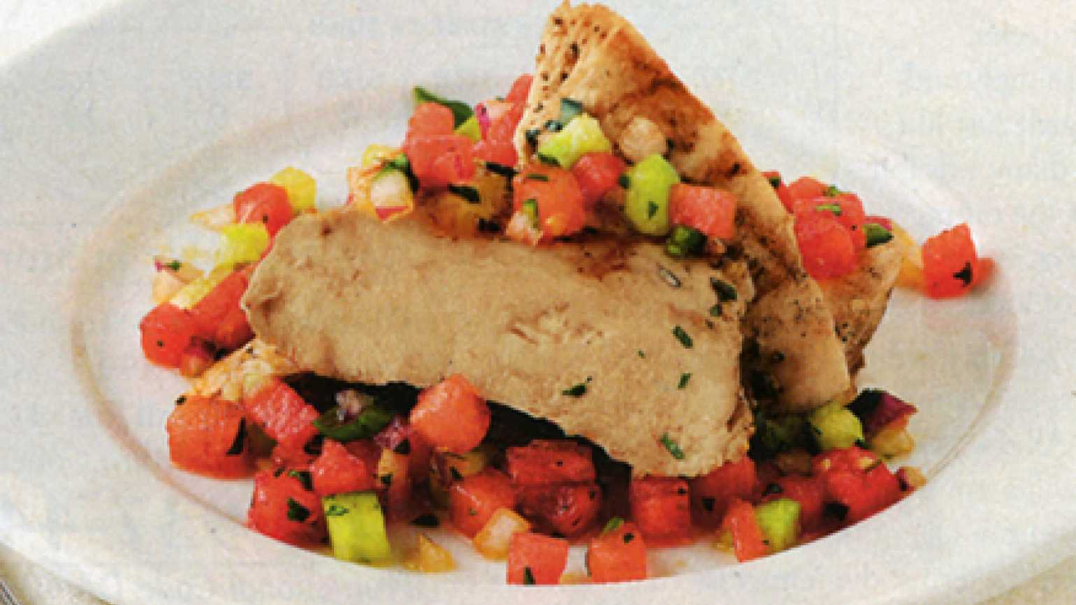 Dinner recipes: Chicken and Watermelon Dish