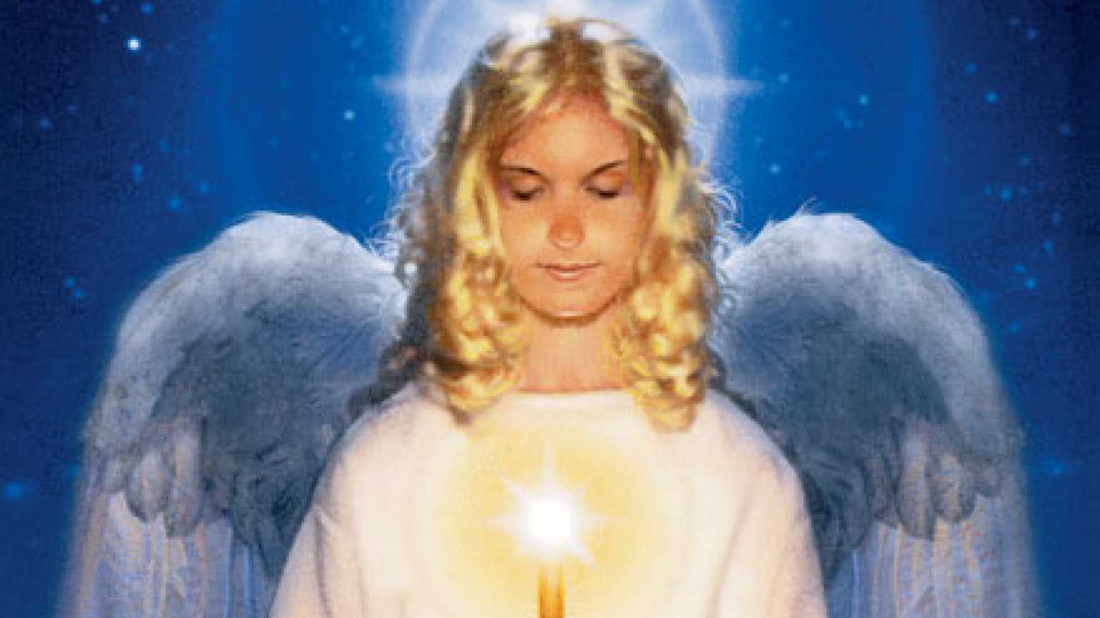 Illustration of an angel with a candle