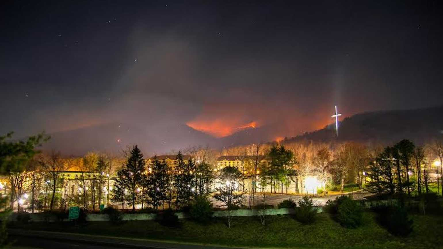 Cross on hill at Lifeway Ridgecrest Conference Center. Photo by Rey Castillo, Jr.