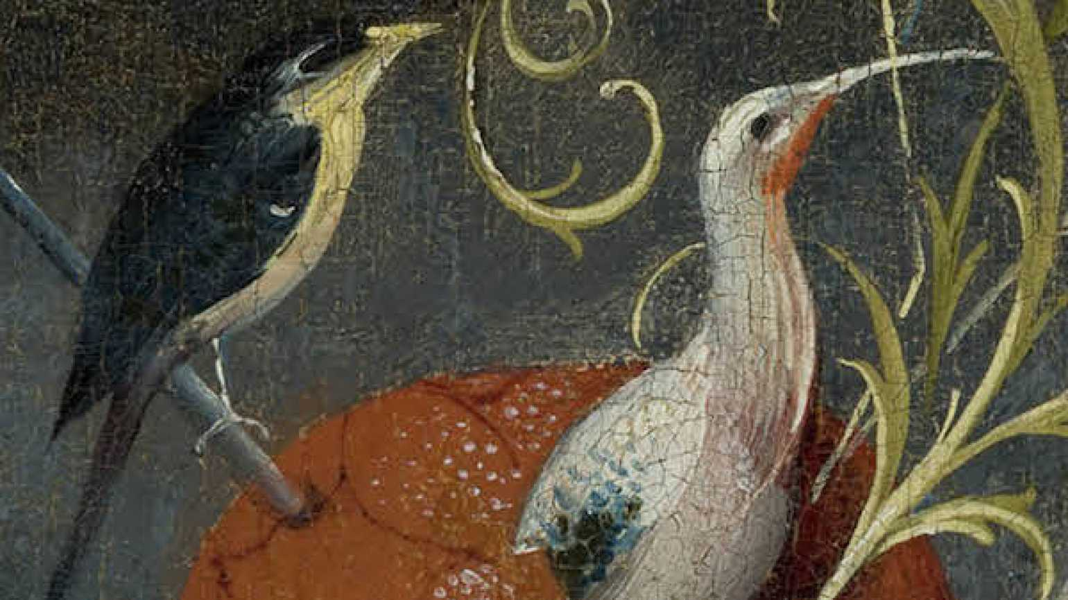 Detail of birds from the painting, The Garden of Earthly Delights, by Hieronymus Bosch, Museo del Prado.
