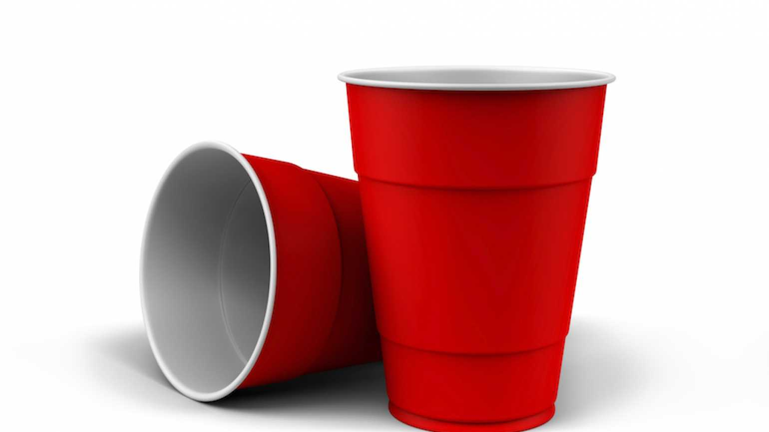 Red Dixie cups. Thinkstock.