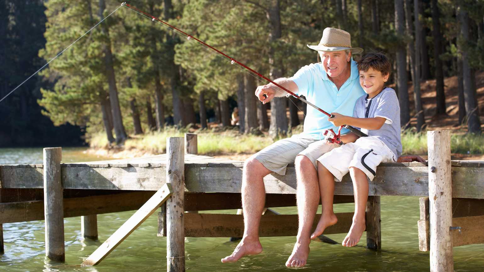 Fishing with grandkid
