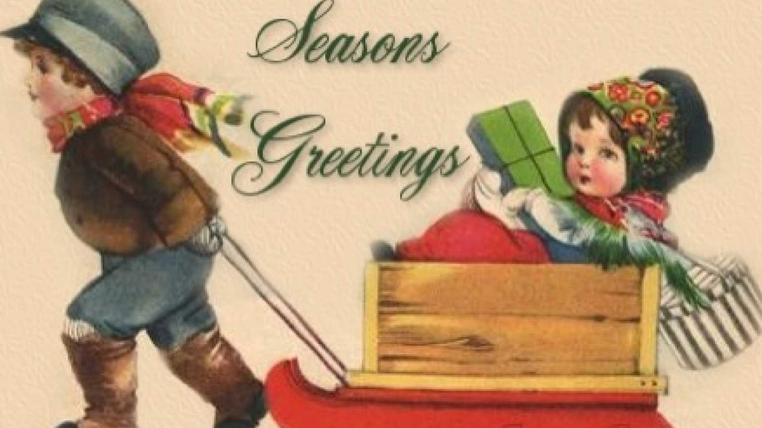 Season's Greetings antique graphic from Weeinspirations.com