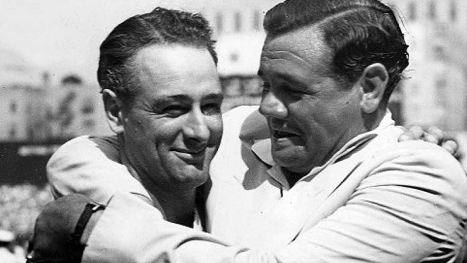 Lou Gehrig and Babe Ruth