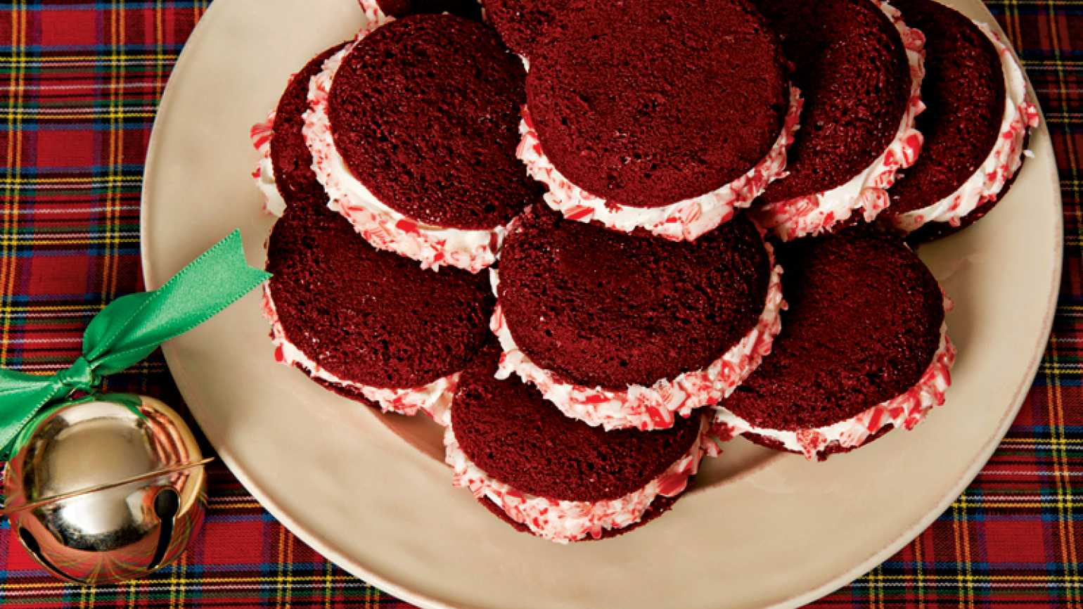 Red Velvet Whoopies Pies