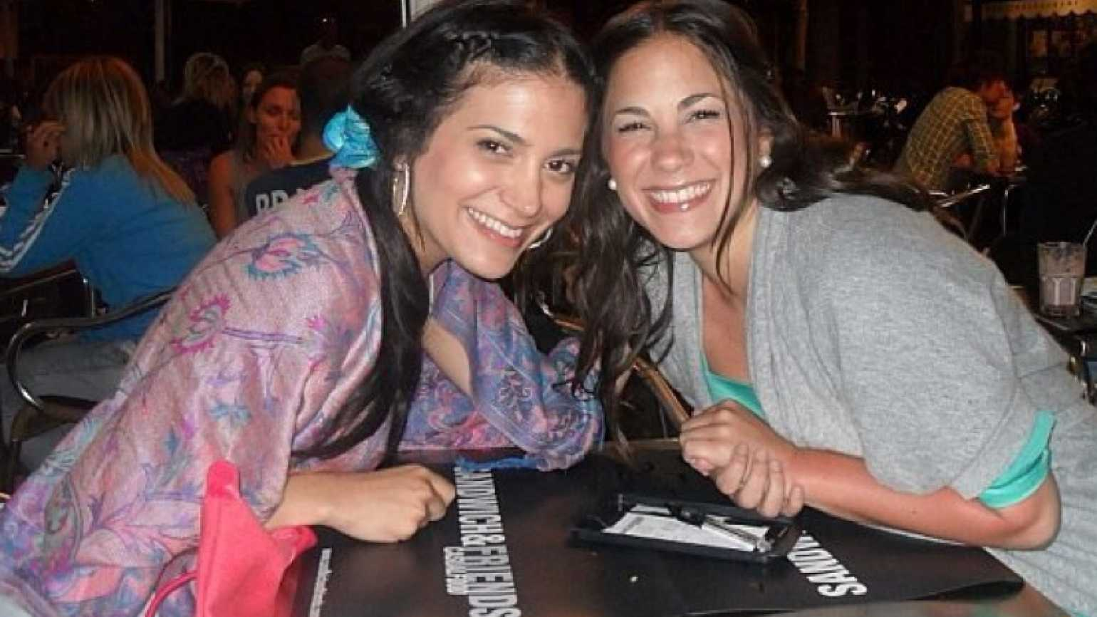 Mysterious Ways blogger Diana Aydin's older twin sisters, smiling together