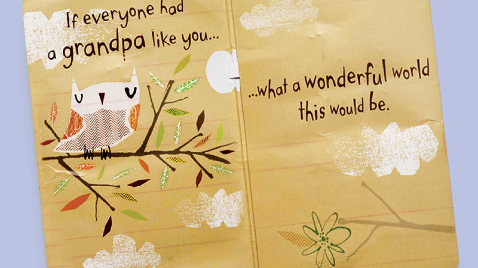 "A Father's Day card that speaks of a ""wonderful world"""
