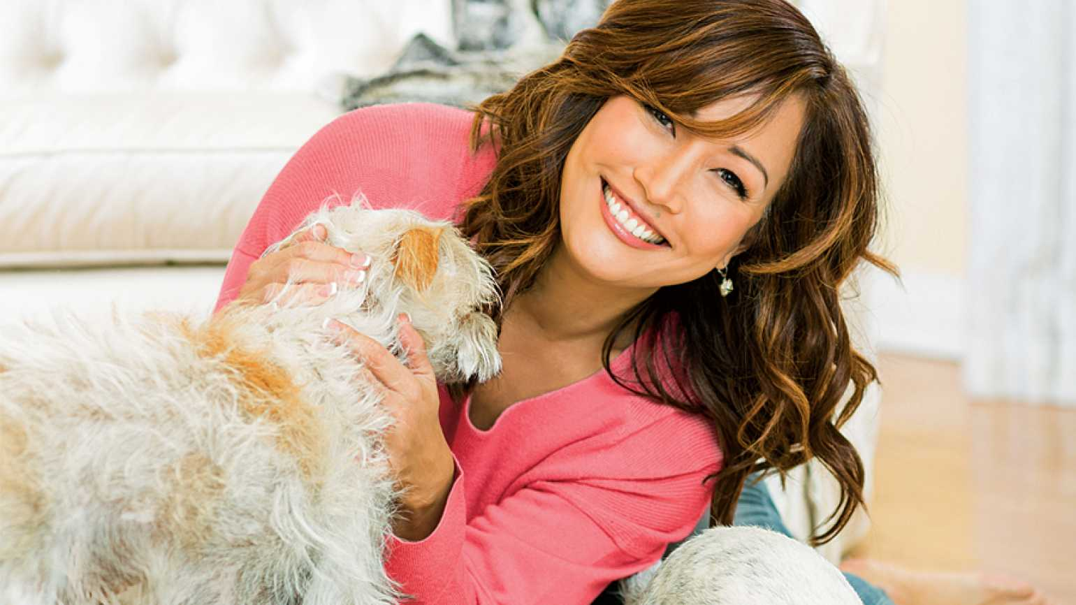 Carrie Ann Inaba with her pals Buddy and Lola
