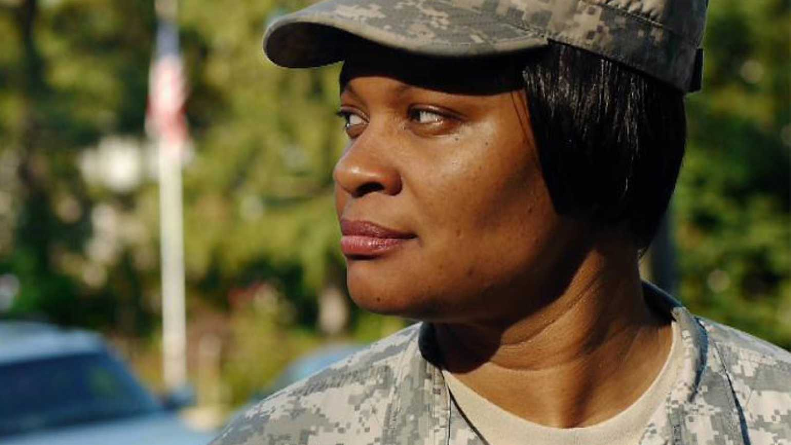 Veteran Jas Boothe in her Army uniform