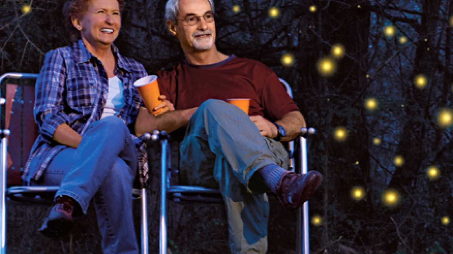Jennie Ivey and her husband George are awed by fireflies