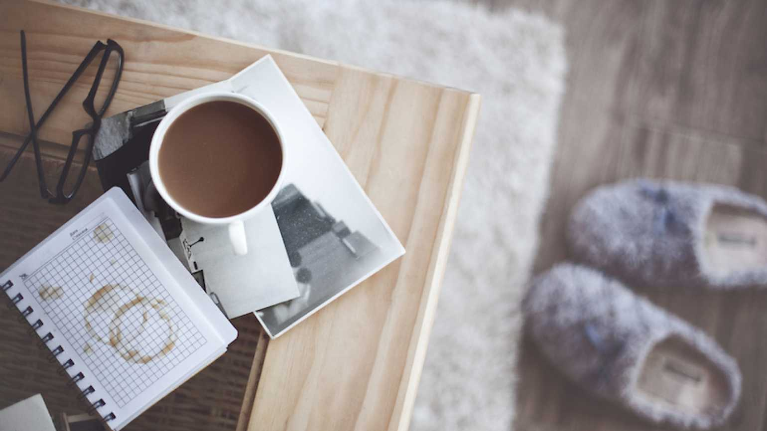 Coffee cup and a sacred moment. Photo by Alena Ozerova, Shutterstock.