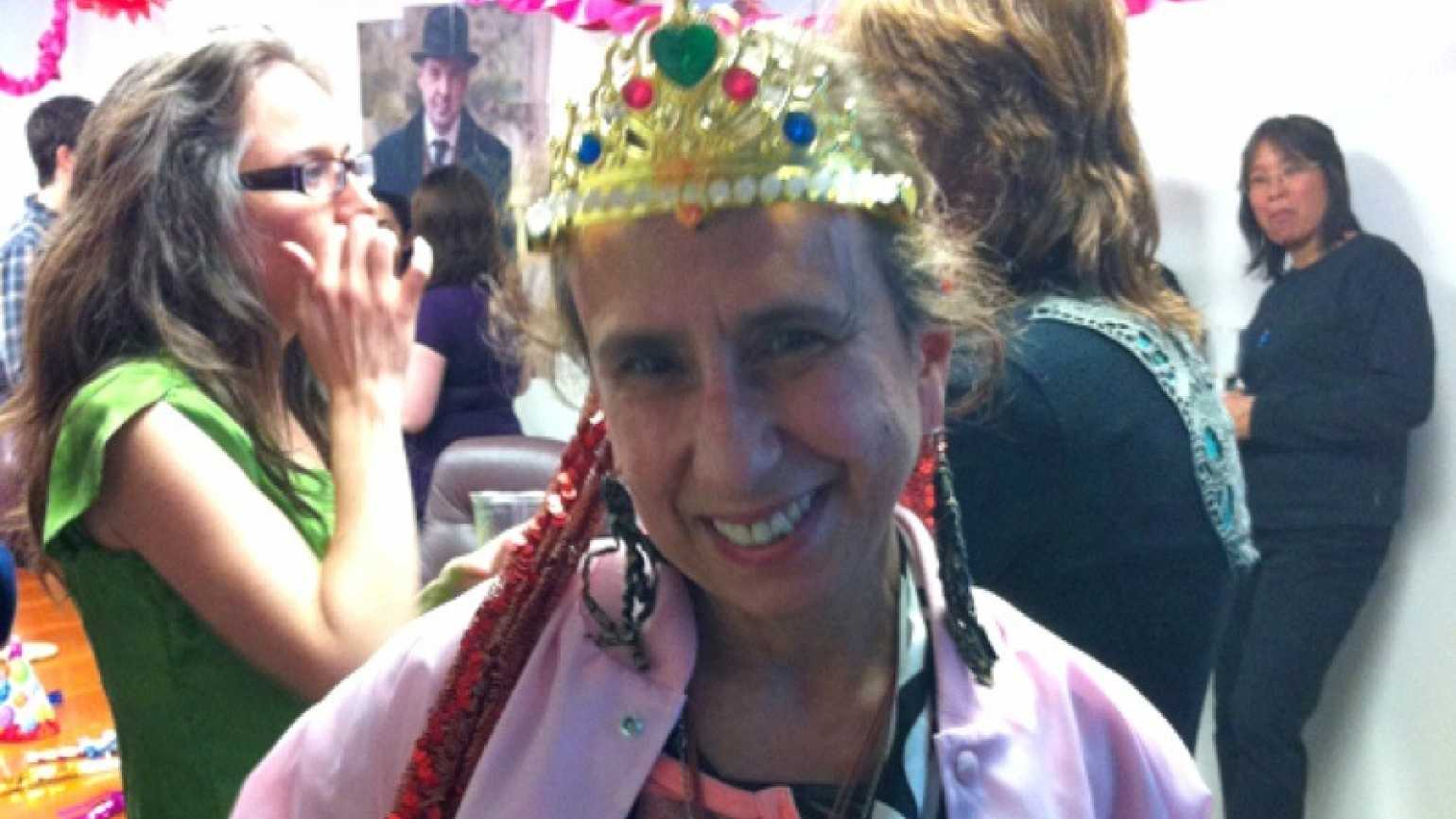 Guideposts staffer Sharon Azar at her going-away party
