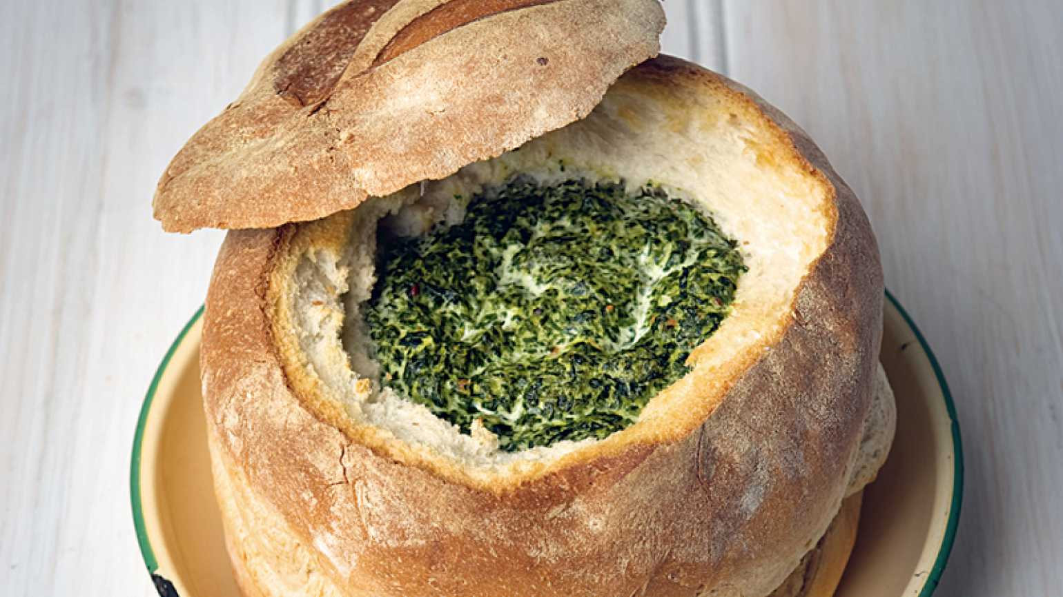 Spinach Bread Bowl