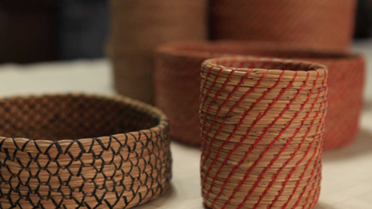 Susan Topham's pine needle baskets