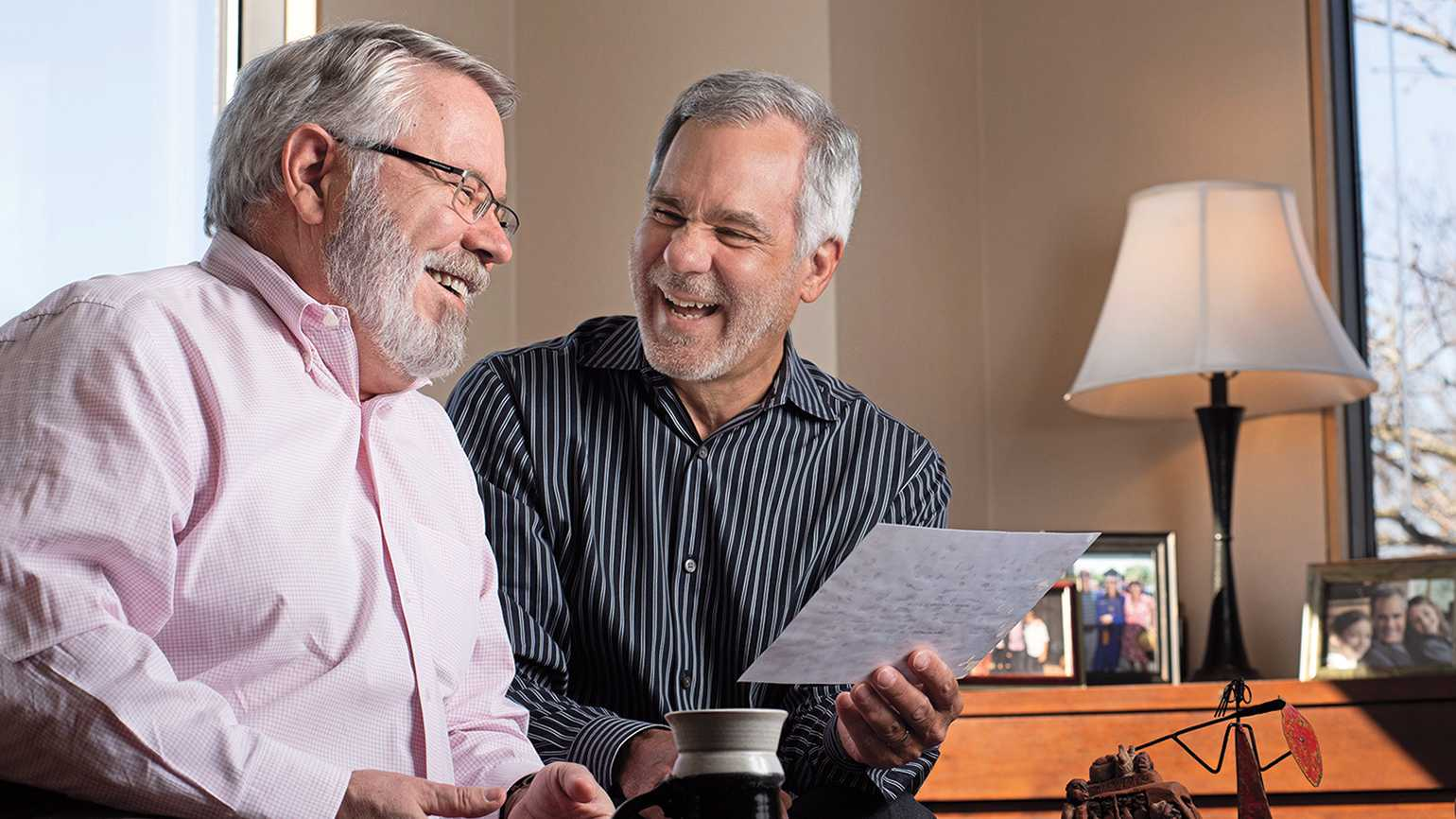 Eric (left) and his friend of four decades, Ken