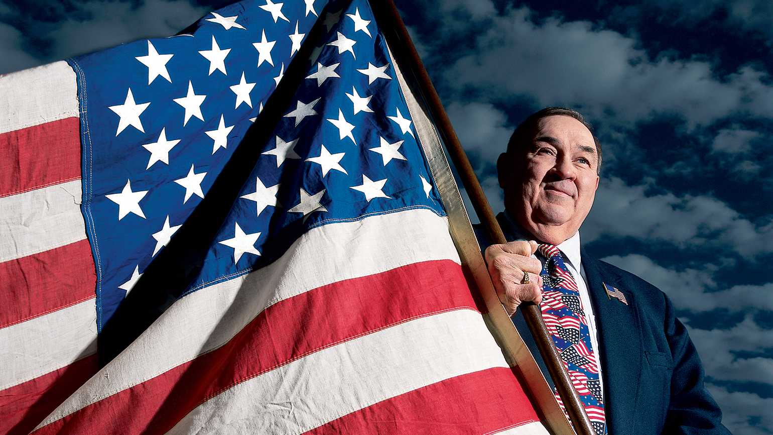 Robert G. Heft and the American flag