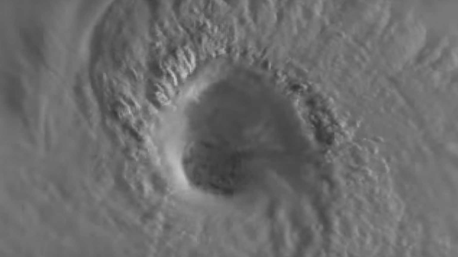 A satellite image of Hurrican Irma