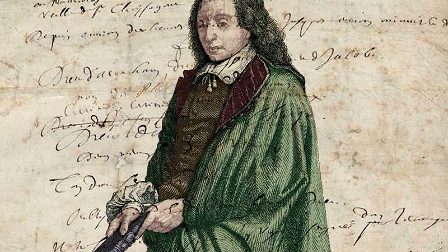 An artist's rendering of the 17th-century mathematician and man of faith, Pascal