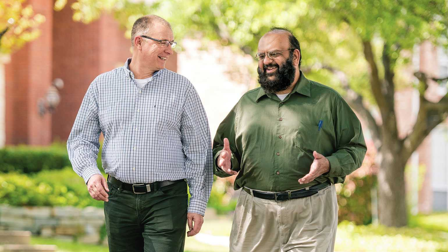 Pastor Jim Powell (left) and Imam Kamil Mufti