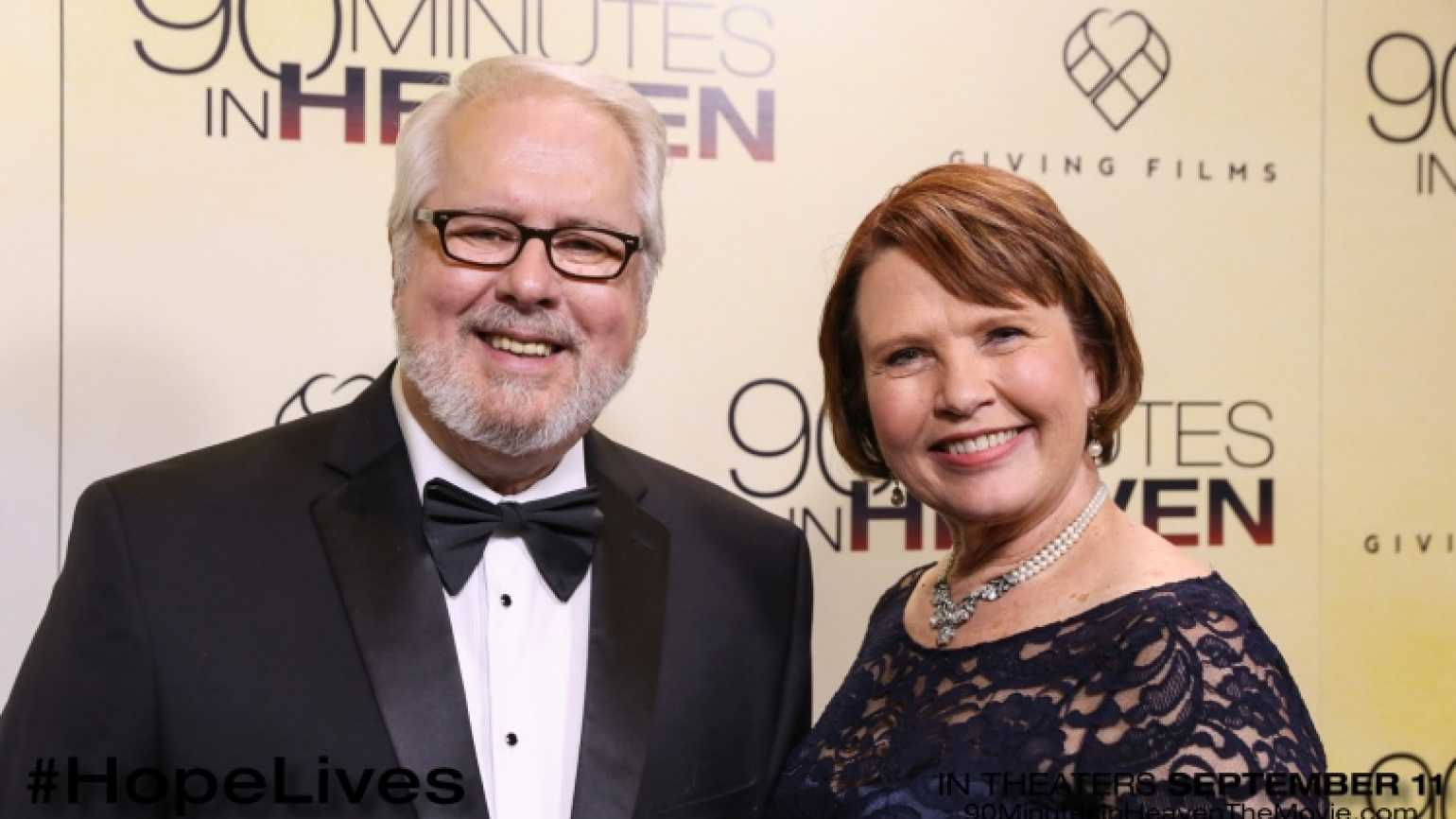 Don Piper and his wife Eva at the Premiere of 90 MInutes in Heaven