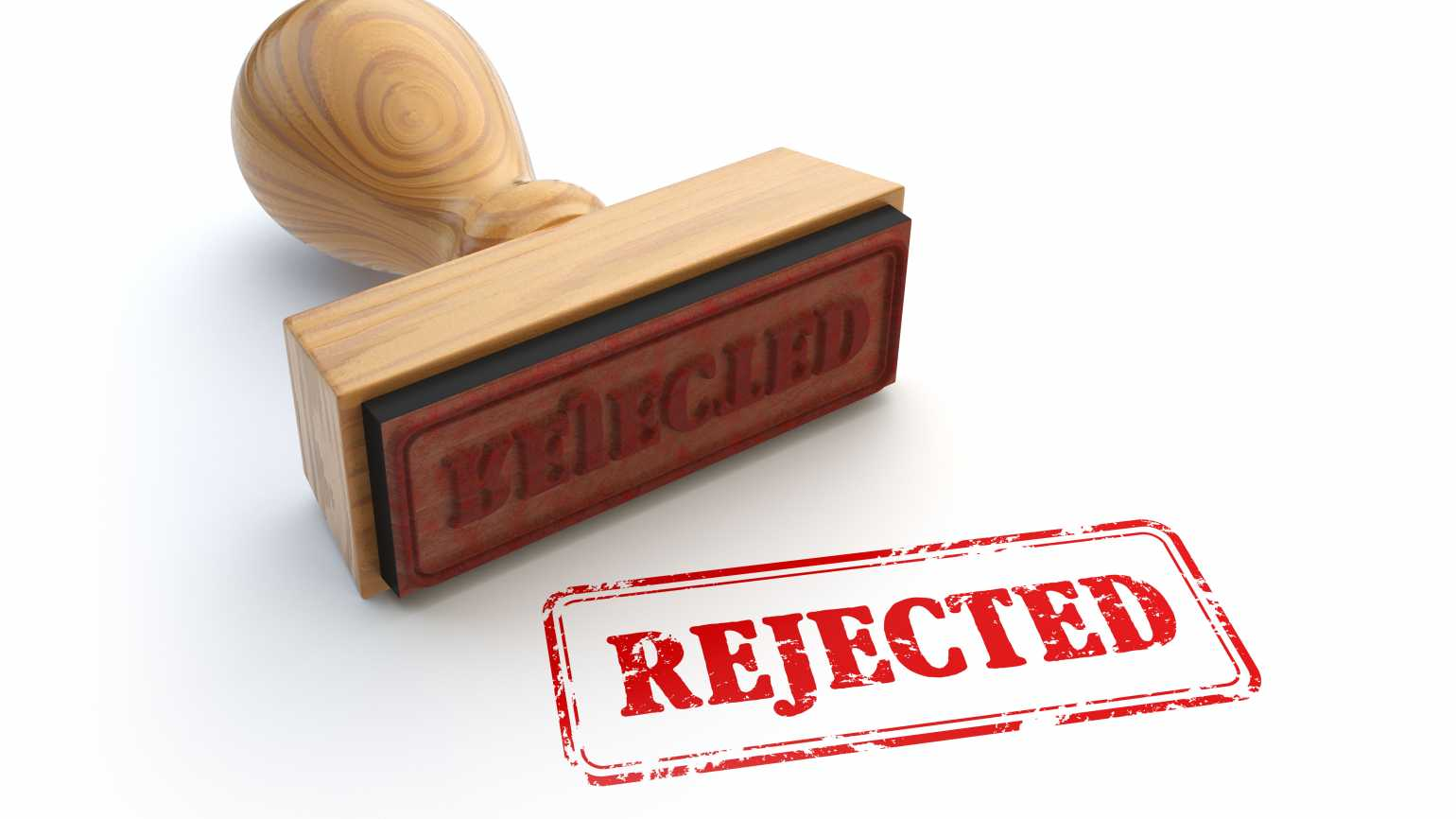 Red rubber stamp rejected, dealing with rejection