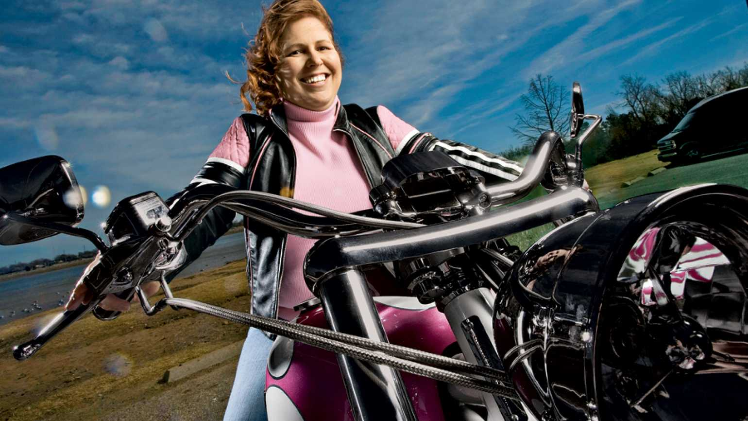 Gayla Ross (here on her Ridley) is more adventurous now.