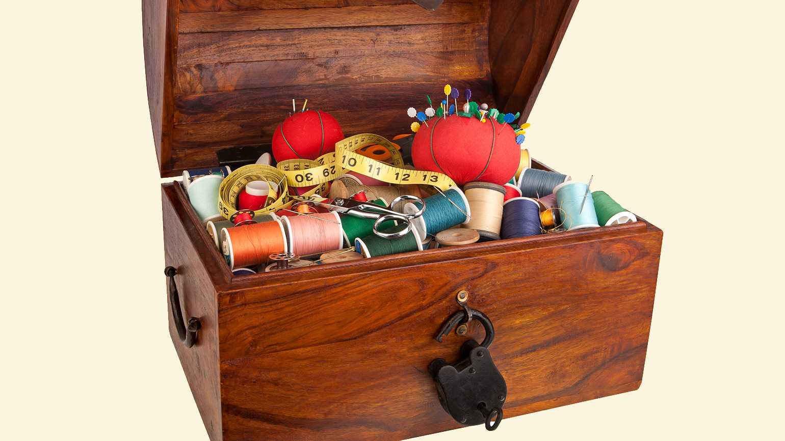 A vintage sewing chest