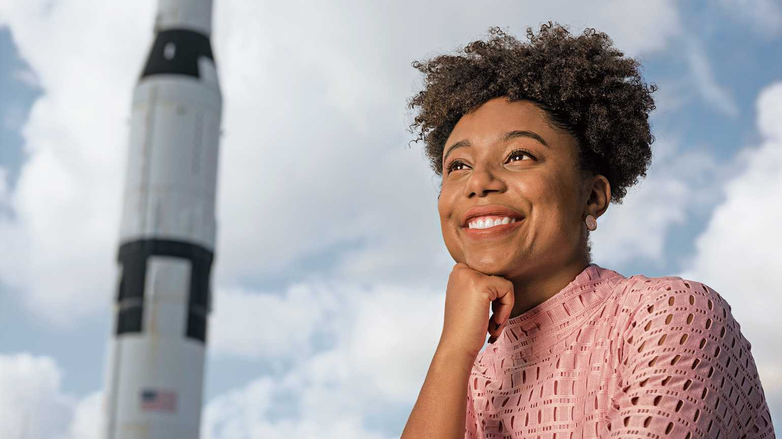 Tiera Guinn Fletcher at the U.S. Space and Rocket Center in Huntsville