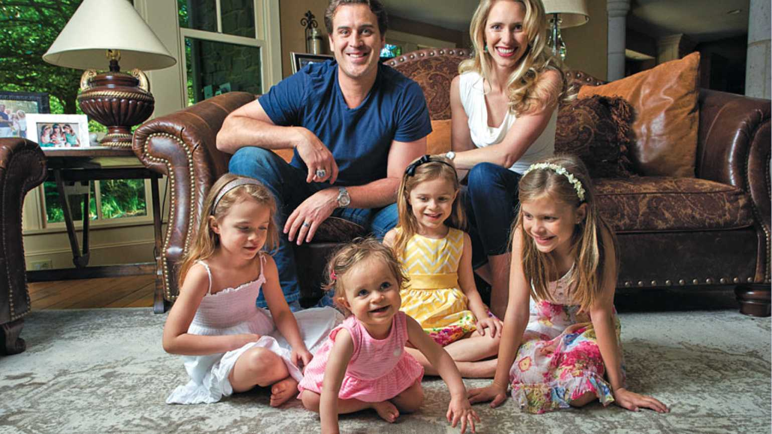 Ben and Karyn with their daughters, Katriel, Haven, Amy Joan and Elleora