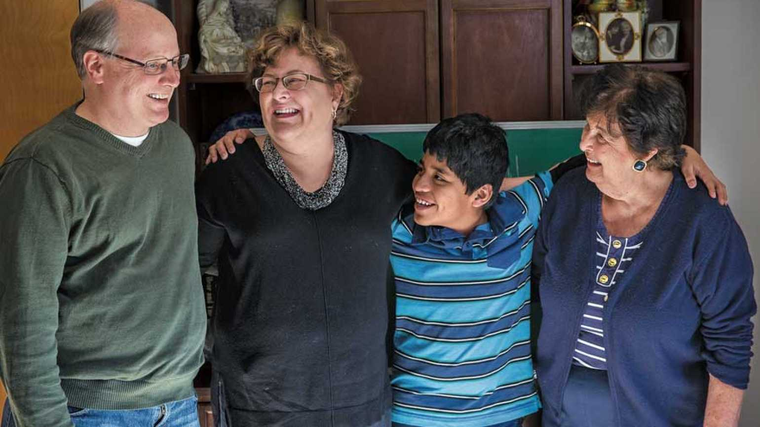 Guideposts: Laura, husband Steve, son Tommy and mother Patricia make a good team.