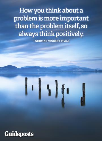 Positive thinking quote by Norman Vincent Peale