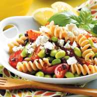 Edamame and Pasta with Feta