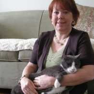 Peggy Frezon and her cat