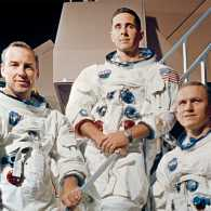 Apollo 8 astronauts James Lovell, William Anders and Frank Borman (from left)
