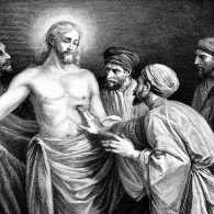 Jesus Christ answers doubts of Saint Thomas. Thinkstock.