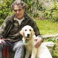 Edward Grinnan and his new inspirational puppy, Grace.